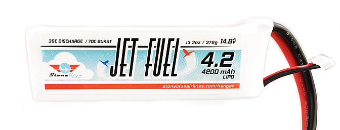 Stone Blue Airlines Jet Fuel Lipo Batteries
