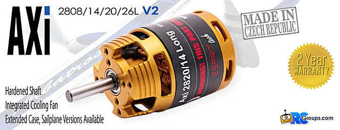 AXi V2 Long Sailplane Brushless Motors
