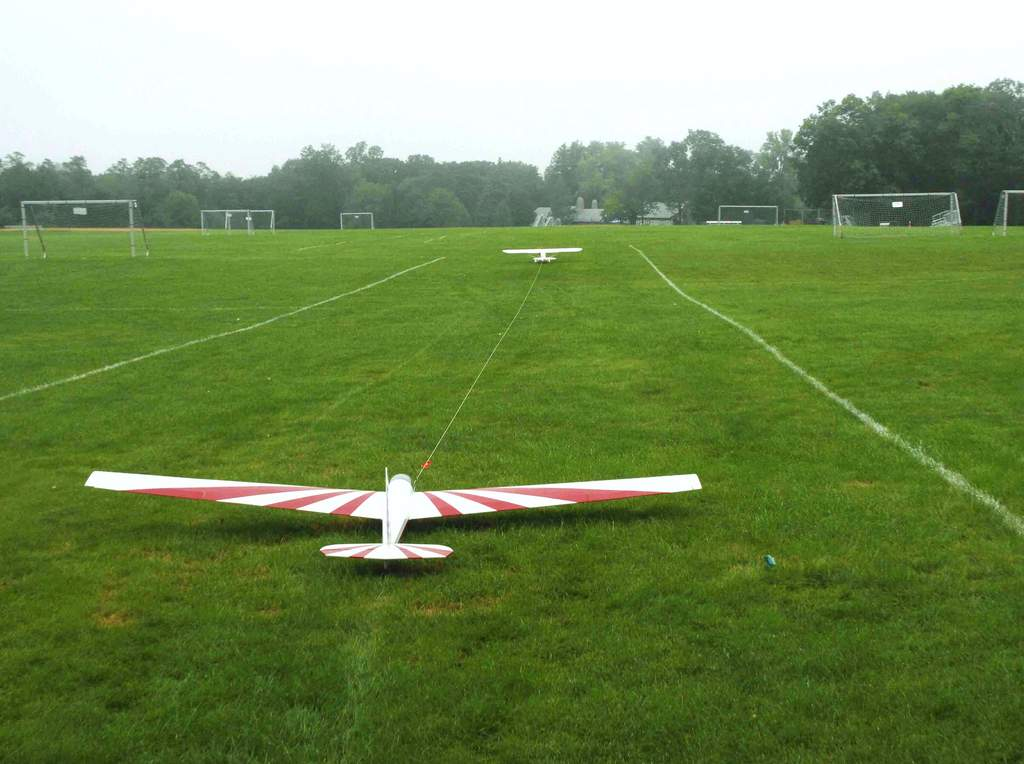 Beautiful site -- we only have access on Sunday morning, so we took it!  Our runway lined with soccer goals.  :-)