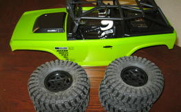 SCX10 Deadbolt Complete Body with wheels and tires