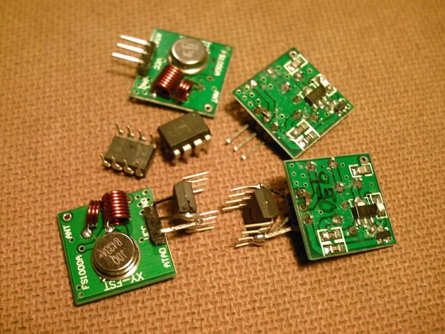 Attiny13 and rf transmitter