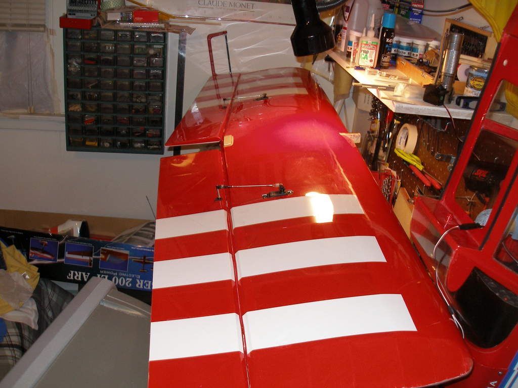 "70"" wing with Futaba 3010's in."