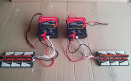 Two used Power Lab 8 chargers with Para boards