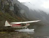 Name: Red and white Super Cub on floats 1 .jpg