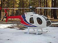 Name: DSCN5583.jpg Views: 49 Size: 244.6 KB Description: TREX 450 wearing Align Hughes 500