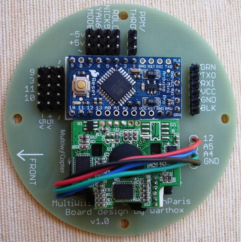 Attachment browser multiwiicopter board with arduino pro