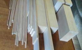 Bulk balsa wood and spruce