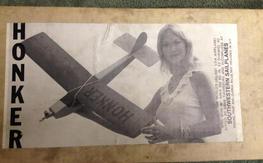 "Honker 1/2A 36"" Sport Plane N.I.B. Quick Build Kit"