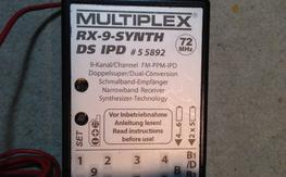 Multiplex RX-9 Synth 72Mhz Receiver