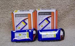 2 Hyperion CX G3 2s 1100 mah 25c lipos new