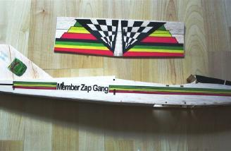 Fuselage with decals attached.