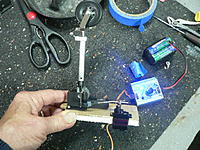 Name: P1040173.jpg Views: 154 Size: 93.5 KB Description: Used a 9g metal gear servo.....checking operation....Used 2-56 hex bolts and blind nuts to secure retract.