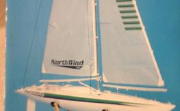 North Wind 36  Semi Scale 36-600 Sailing Yacth with Airtronics Avenger 2x radio