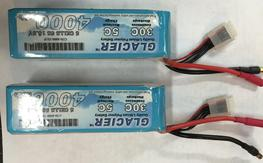 2 Glaicer  5s 4000 mah 30c batteries