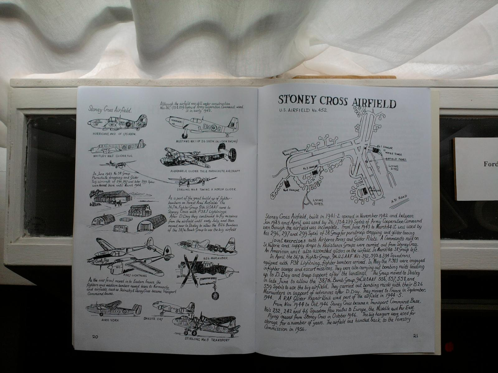 Photo of the page of the late Alan Browns  Book The 12 Airfields  featuring the Stoney Cross Airfield . I found a copy on Amazon