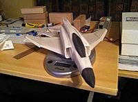 Name: IMG_1713[1].jpg Views: 84 Size: 650.9 KB Description: Starting to take shape.  F-4s are boxy, but they do have some curves.  Tried to sand in a few.