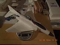 Name: DSCN1453[1].jpg Views: 59 Size: 535.2 KB Description: Well, I hit my target weight.  I'm going to do additional sanding to shave of more if I can.  I'm planning on doing a paint job, so trying to keep it as light as possible.