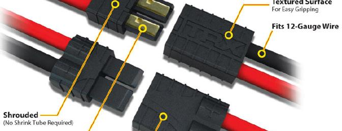 The new Traxxas high-current connector (photo courtesy of Traxxas)