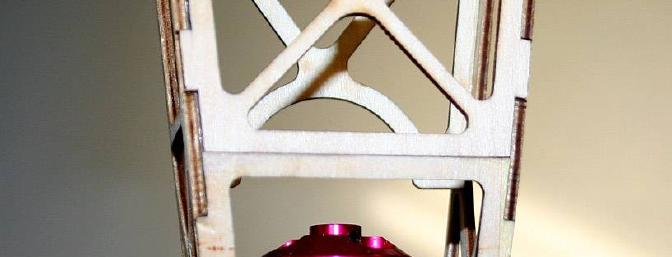 The Cermark motor is mounted behind the firewall inside the plywood mount.