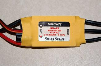 The ElectriFly Silver Series 45 amp Brushless ESC