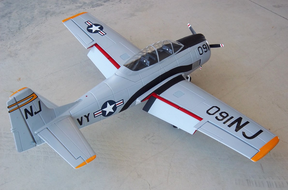 Dynam T-28 w/electric retracts, painted and detailed