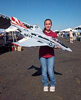 Name: Evelyn &amp; E-Flite F-4.jpg