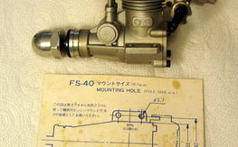 OS FS-40 Four Stroke Model engine with