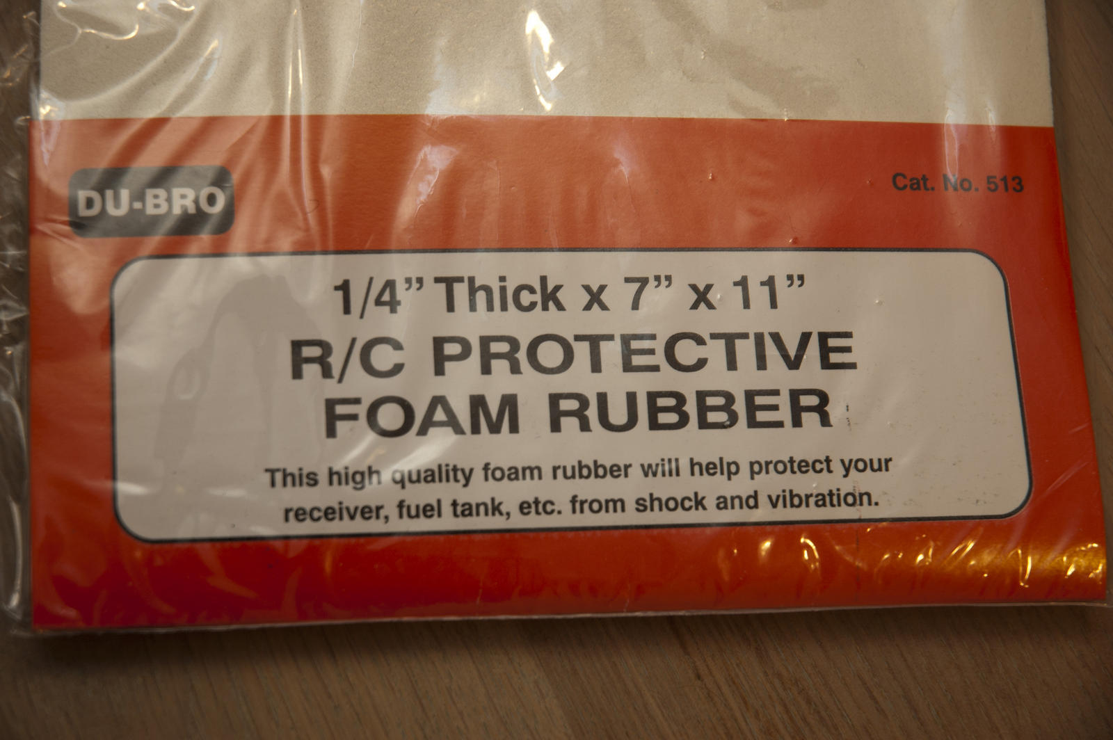 I have bought some R/C Protective Foam Rubber, to prevent vibrations