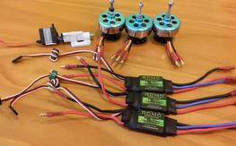 Tricopter Parts - New - 3xDT750, 3x20a Simon Ks ESC, 1xTail mech+Servo