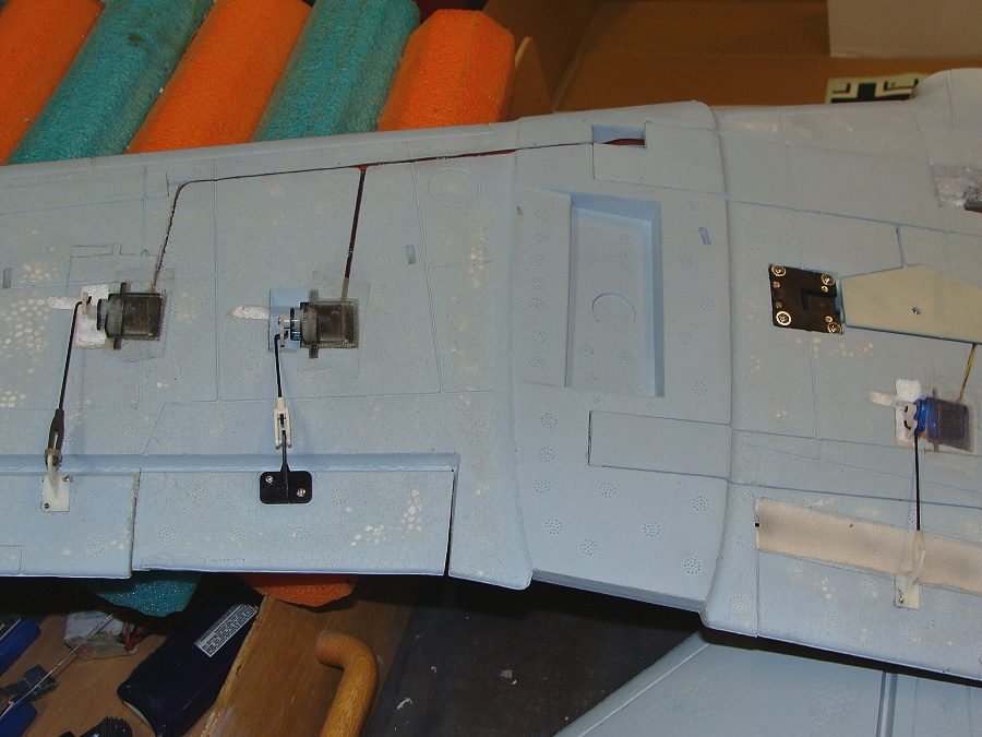 Version I - Injector marks sanded off, flaps added and base coat of primer laid down.