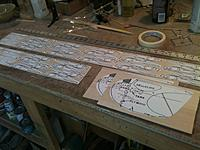 Name: IMG_2588.JPG Views: 37 Size: 1.17 MB Description: Paper patterns attached to balsa sheet with 3M77 spray adhesive