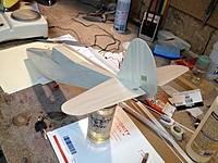 Name: IMG_0852.jpg Views: 29 Size: 599.6 KB Description: Tail also covered with Doculam and glued in place.