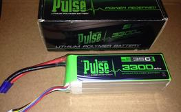 Pulse 6s 3300mah 35c lipo like new 4 cycles