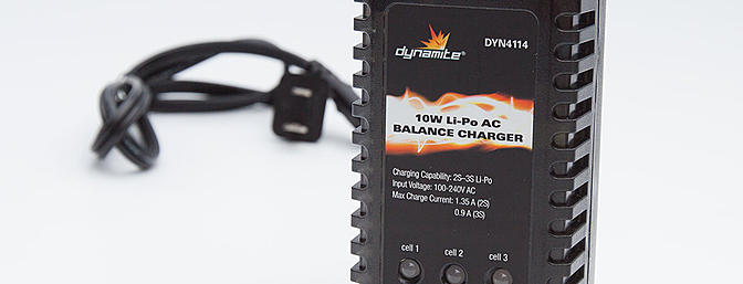 Included 10w LiPo balance charger
