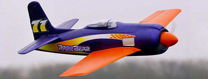 E-flite Rare Bear with AS3X Technology