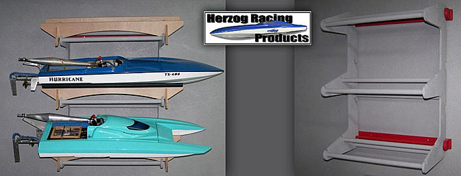 Herzog Racing Products - Three Boat Wall Mount