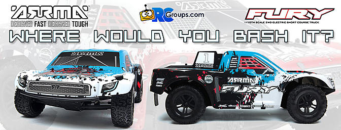 The Show Us Where You'd Bash It Giveaway! Win an Arrma FURY MEGA RTR!
