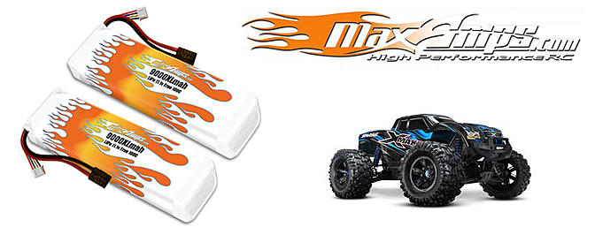 MaxAmps 9000XL 3s Pair for Traxxas X-Maxx