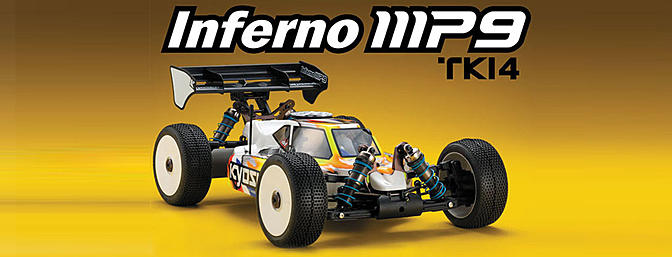 Kyosho 1/8th Inferno MP9 TKI4 Nitro 4WD Kit