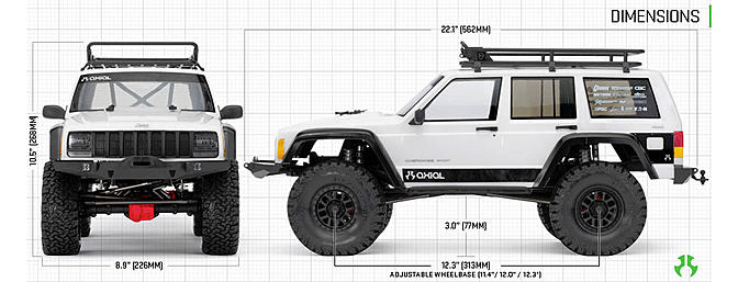 Axial SCX10 II Jeep Cherokee Kit