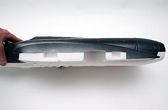 Cross section showing the wing's airfoil