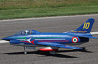 The Sebart Fiat G.91 PAN features everythig needed to fly except battery and radio system.
