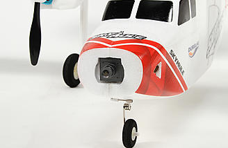 A camera can be fitted in the nose of the Skymule