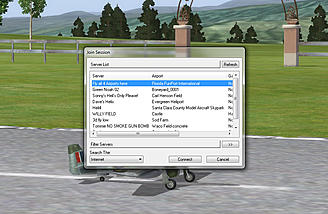 The Multiplayer window in RealFlight 7.5