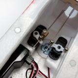 Elevator and rudder servos
