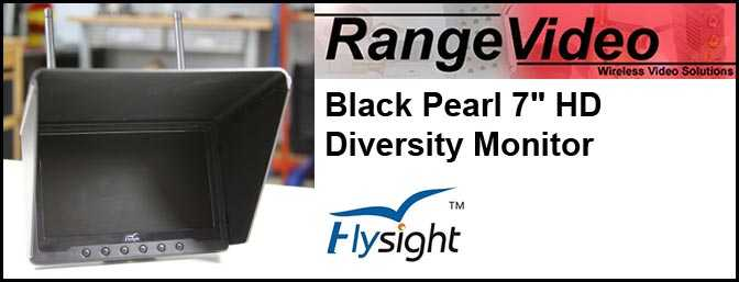 "Black Pearl 7"" HD Diversity Screen"
