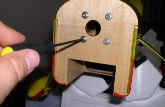 Installing blind nuts.  I like to use washers and hex screw to seat the blind nuts before installing the mount.