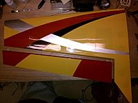 Name: IMG_20120103_224705.jpg Views: 316 Size: 89.0 KB Description: Test fit of the left aileron.  Notice the almost-oops :)