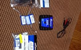 4 Eflite 2S lipo batteries, charger, AC Adapter $25 shipped