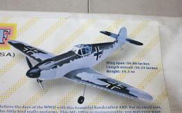 NIB Sportsman Aviation ME-109 Warbird ARF Kit $55.00 FREE SHIPPED!!!